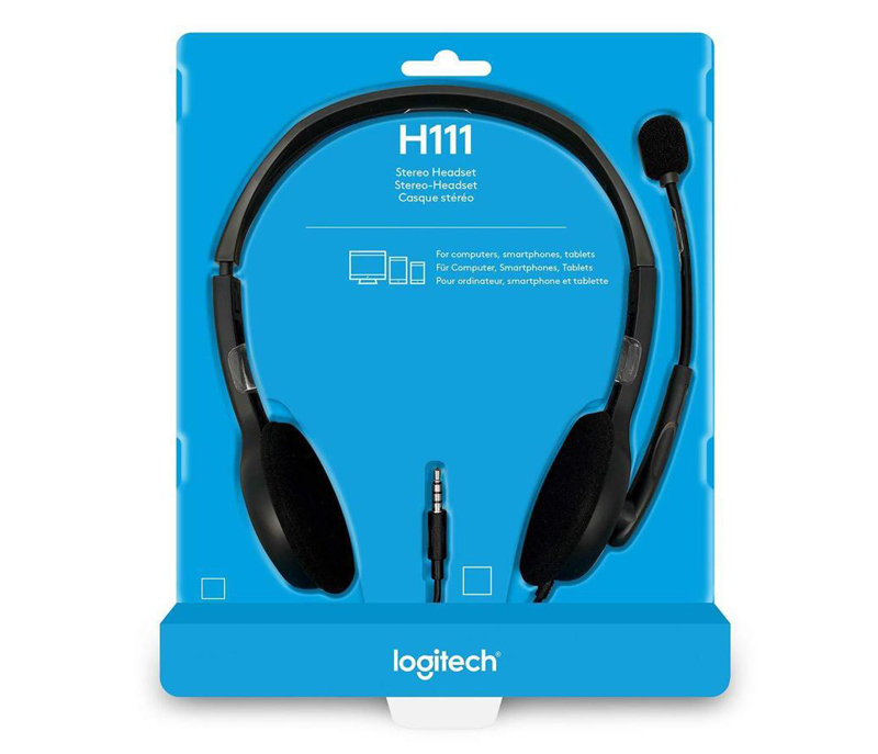 Logitech H111 Stereo Headset 3.5mm multi-device headset