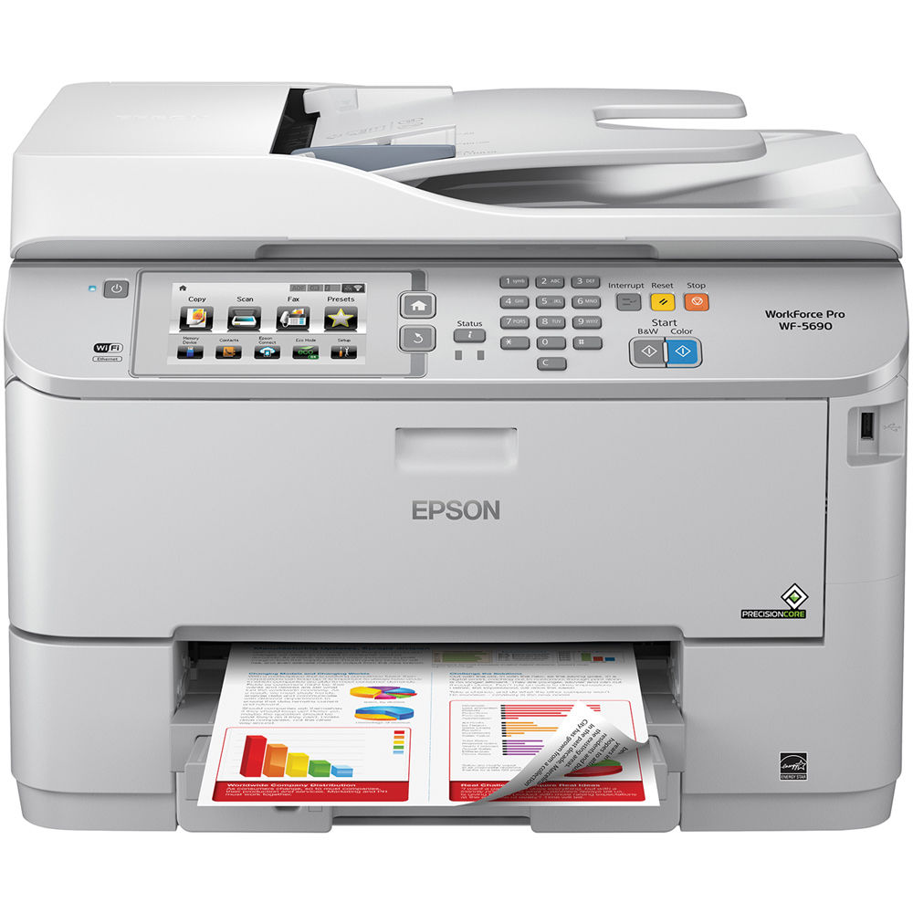Epson WorkForce Pro WF-5690 Network Multifunction Color Inkjet Printer