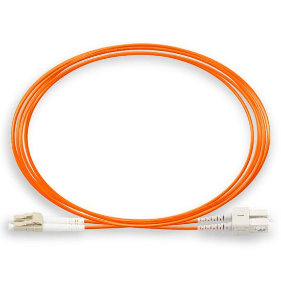 DAD 1M LC UPC - SC UPC 62.5/125 OM1 Duplex Multi-mode Fiber optic patch cord