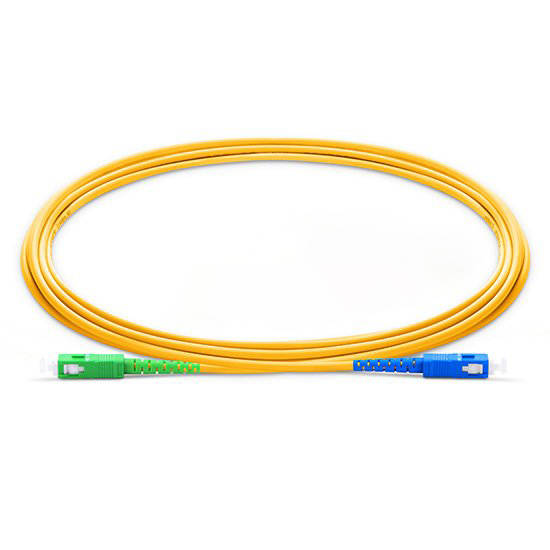 DAD 2M SC UPC - SC APC 9/125 OS2 Simplex Single-Mode Fiber optic patch cord