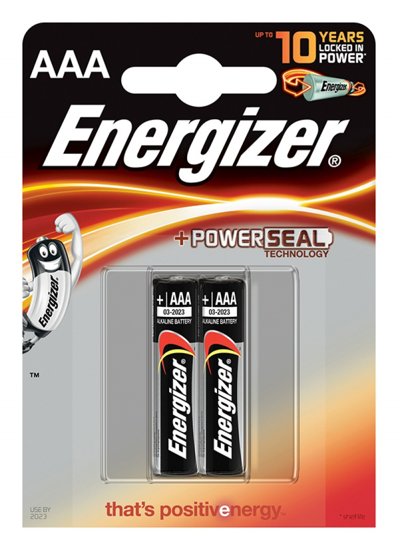 Energizer Base Power Seal – AAA Batteries 1.5v AAALR03 (2 Pack)