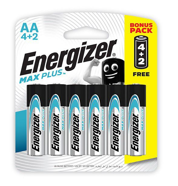 Energizer® MAX PLUS – AA Batteries 1.5V AA LR6 ( 4 Pack + 2 Free )