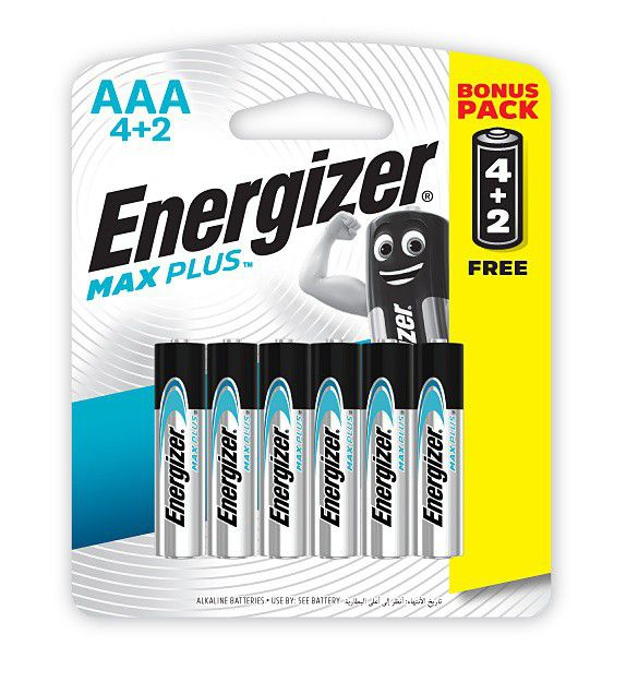 Energizer® MAX PLUS – AAA Batteries 1.5V AAA LR03 ( 4 Pack + 2 Free )