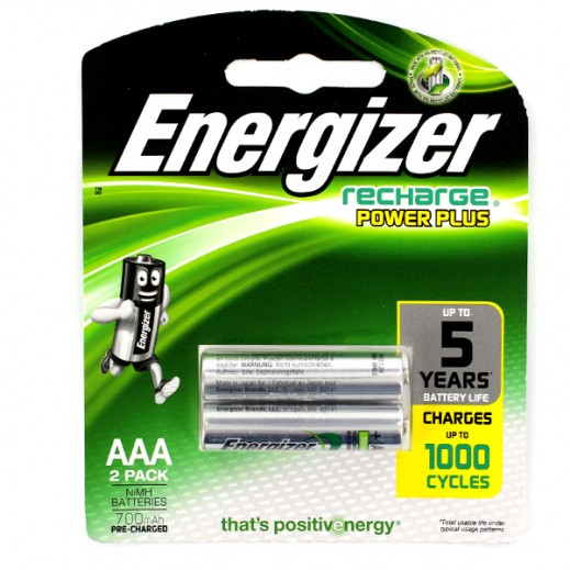 Energizer Recharge Power Plus - AAA Rechargeable Batteries 1.2V AAA HR03 ( 2 Pack )