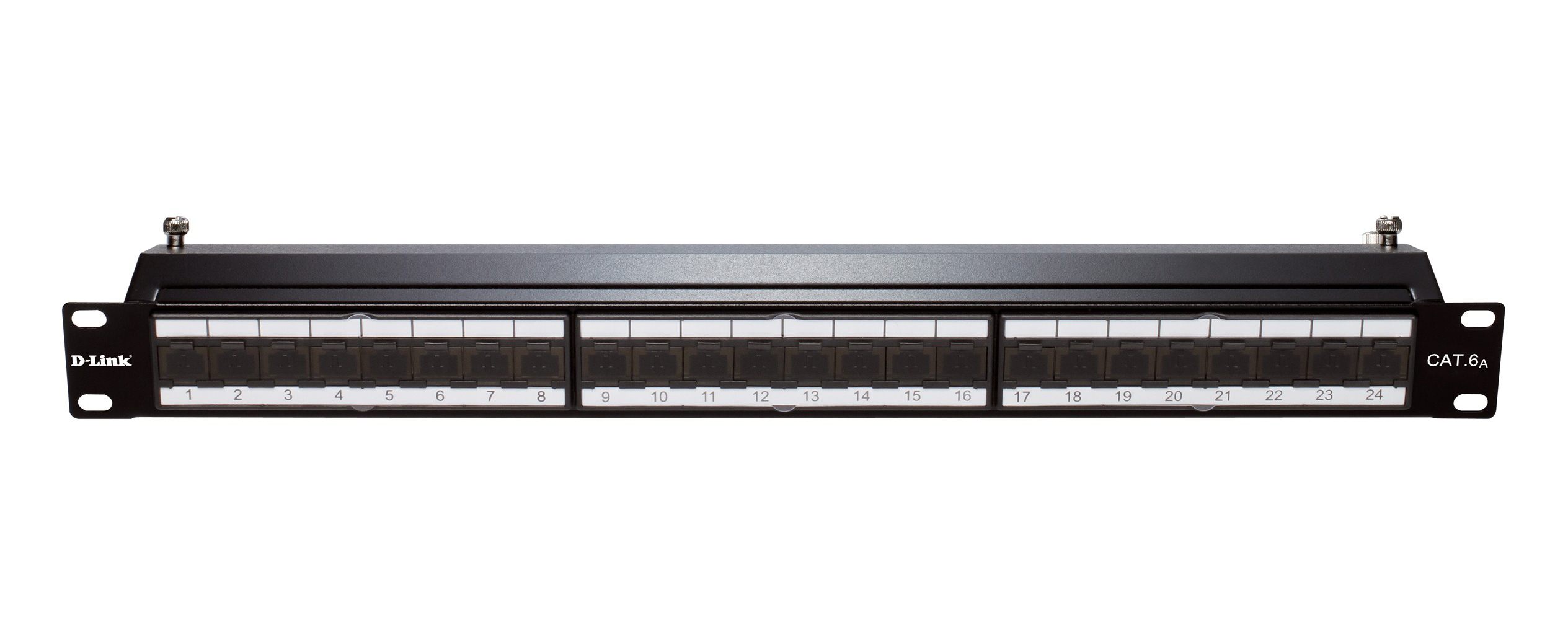 D-Link Patch Panel Cat 6A Shielded Keystone- 24 Port-Loaded