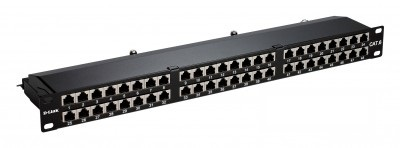 D-Link Patch Panel Cat 6A Shielded Keystone- 48 Port-Loaded