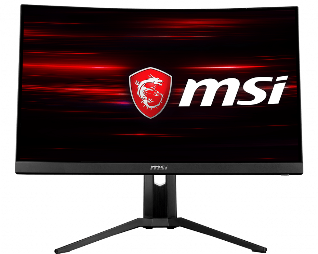MSI Optix MAG241CR Curved Gaming Monitor 23.6 Inch, Full HD, VA, 144 Hz, 1ms, 1920 x 1080, 1500R, RGB Mystic Light, DisplayPort, 2x HDMI, 2x USB, Adjustable Stand, AMD FreeSync