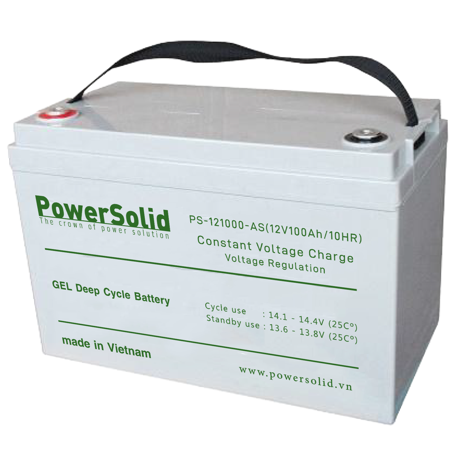 Power Solid PS-121000-GS GEL Deep Cycle Battery 12V 100Ah