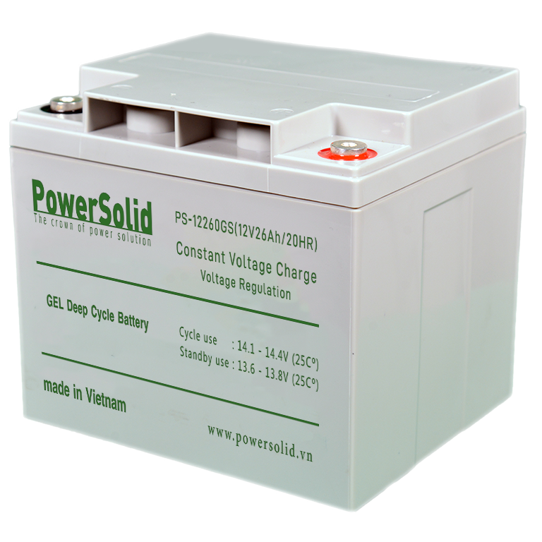 Power Solid PS-12260-GS GEL Deep Cycle Battery 12V 26Ah