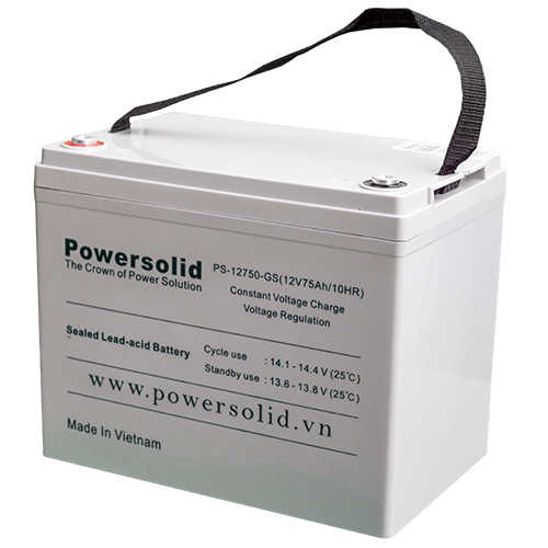 Power Solid PS-12750-GS GEL Deep Cycle Battery 12V 75Ah