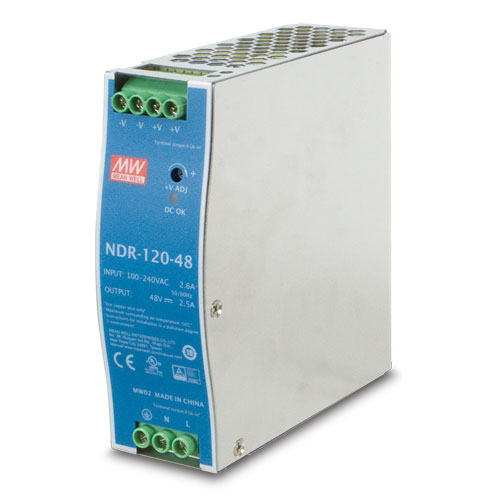 Planet PWR-120-48 (MEAN WELL/NDR-120-48) DC Single Output Industrial DIN Rail Power Supply Units