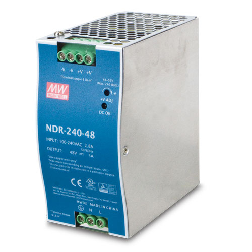 Planet PWR-240-48 (MEAN WELL/NDR-240-48) DC Single Output Industrial DIN Rail Power Supply Units