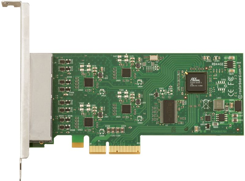 MikroTik RB44Ge PCIe 4-port Gigabit Ethernet