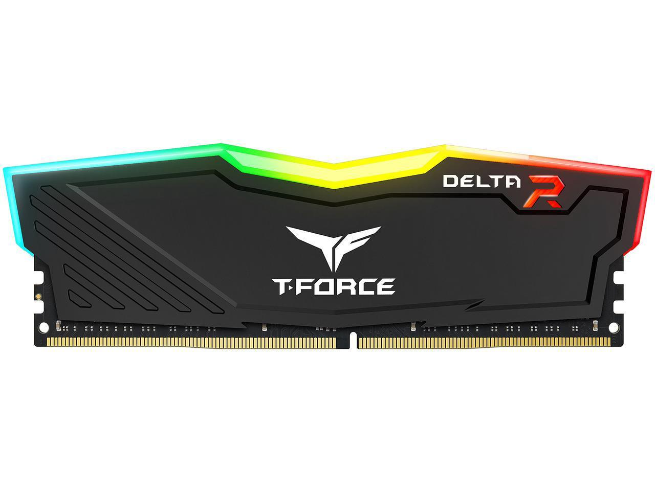 TeamGroup T-Force Delta II RGB 16GB DDR4 SDRAM DDR4 2666 Desktop Memory Model TF3D416G2666HC15B01